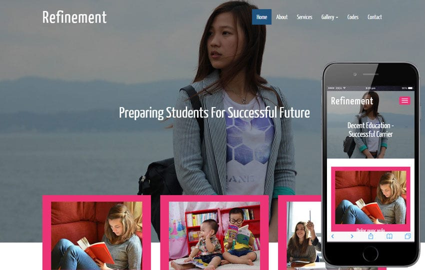 Refinement a Educational Category Flat Bootstrap Responsive web template