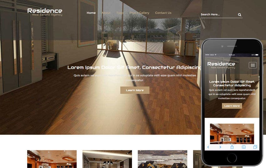 Residence a Real Estate Flat Bootstrap Responsive Web Template Mobile website template Free