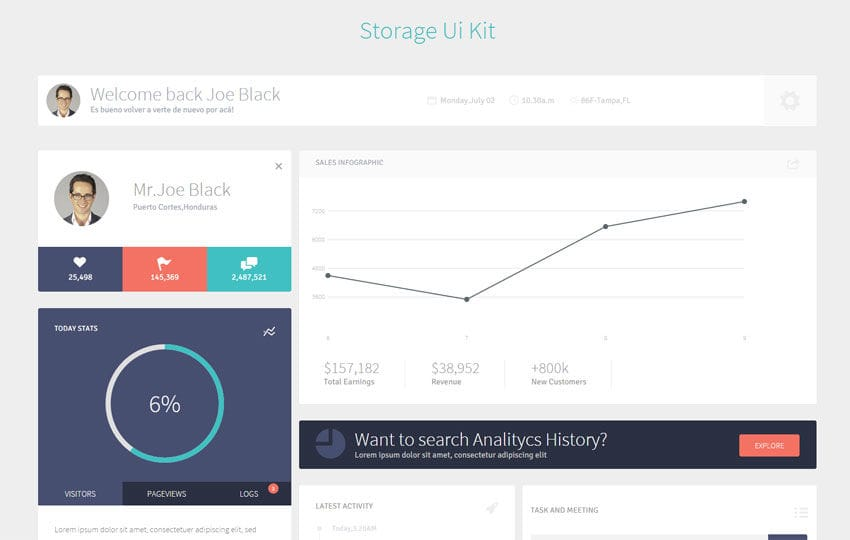 Storage UI Kit a Flat Bootstrap Responsive Web Template