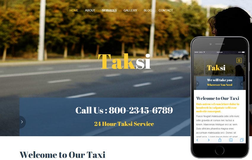 Taksi a Auto Mobile Category Flat Bootstrap Responsive Web Template Mobile website template Free