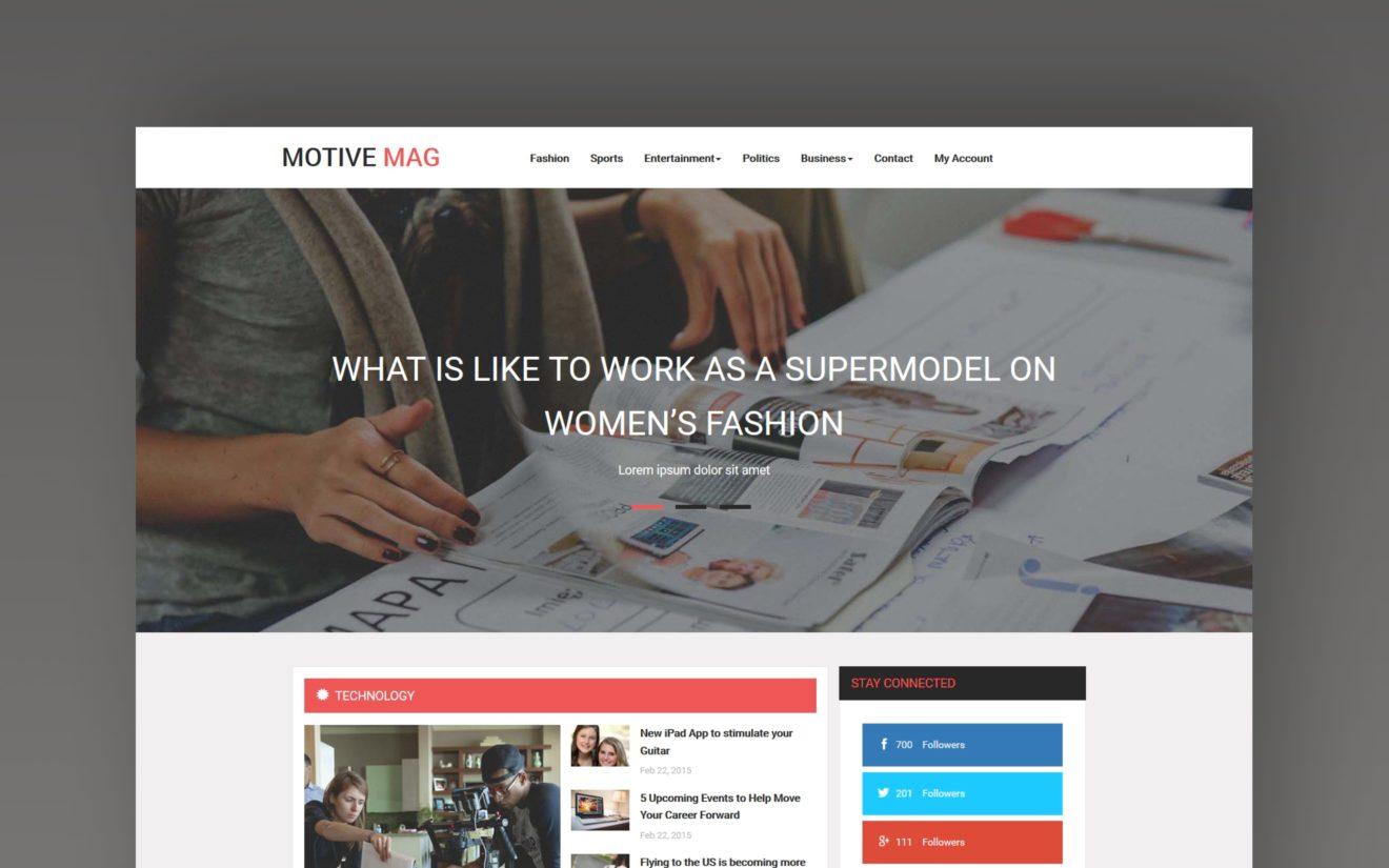 Motive Mag website template