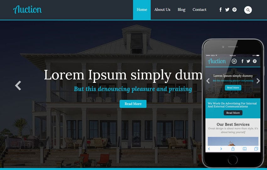 Auction a Real Estate Category Flat Bootstrap Responsive Web Template