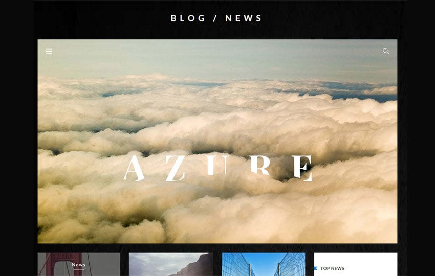 Azure Blog UI Kit a Flat Bootstrap Responsive Web Template Mobile website template Free