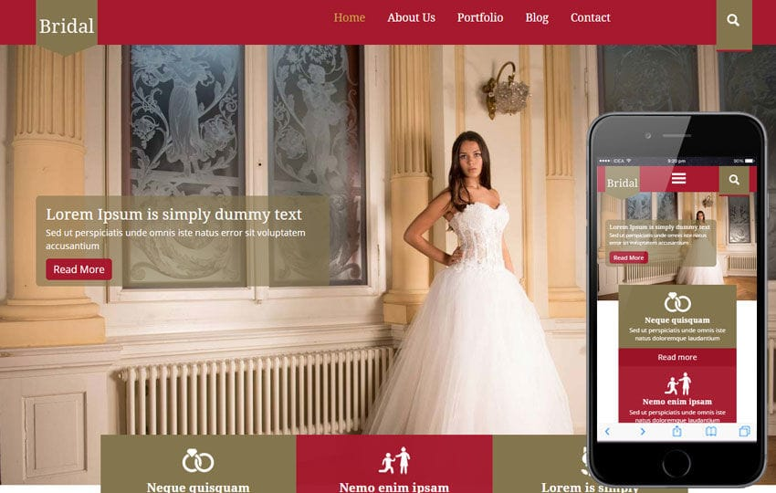 Bridal a Wedding Planner Flat Bootstrap Responsive Web Template Mobile website template Free