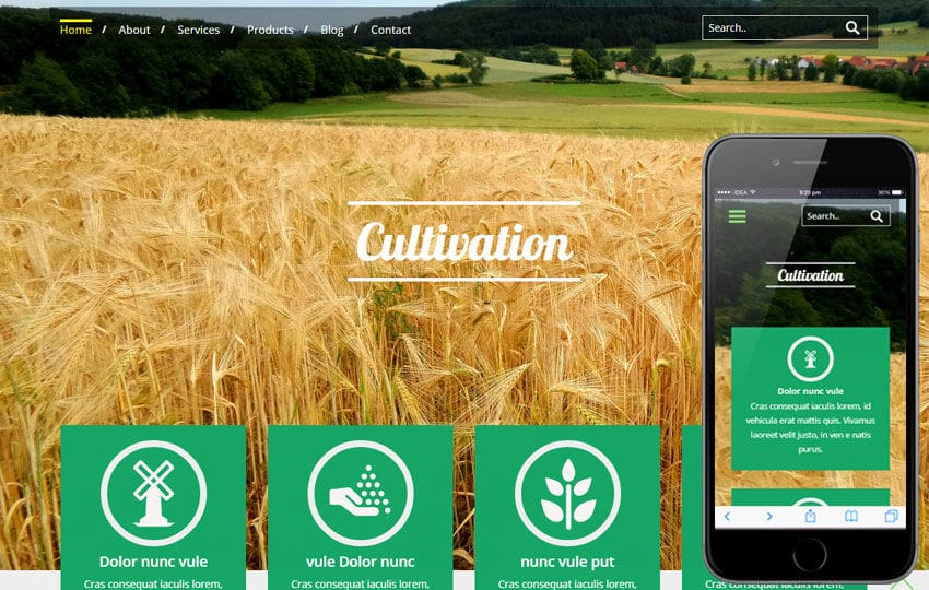 Cultivation a Agriculture Category Flat Bootstrap Responsive Web Template Mobile website template Free