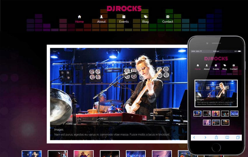 Dj Rocks a Entertainment Category Flat Bootstrap Responsive Web Template Mobile website template Free