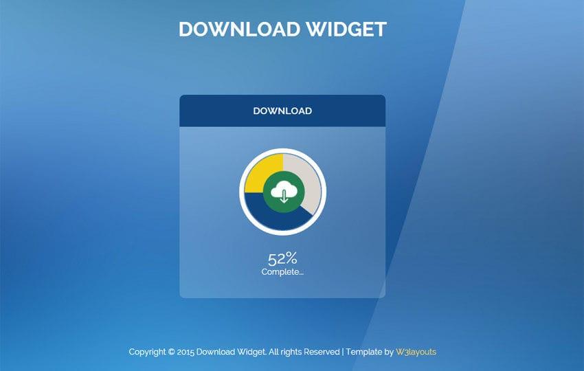 Flat Style Download Responsive Widget Template