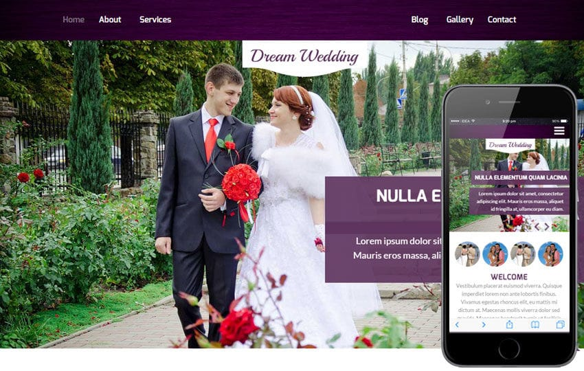 Dream Wedding a Wedding Planner Flat Bootstrap Responsive Web Template
