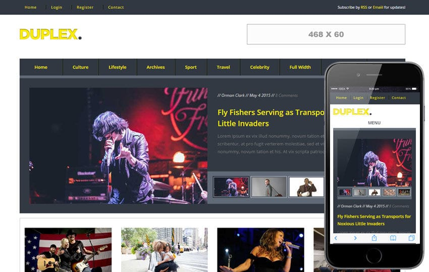 Duplex a Entertainment Category Flat Bootstrap Responsive Web Template Mobile website template Free