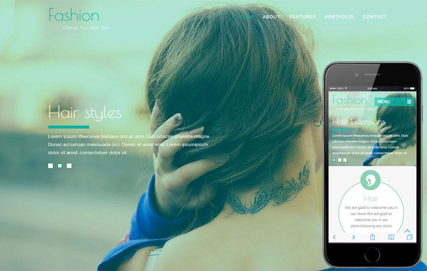 Fashion Hair a Fashion Category Flat Bootstrap Responsive Web Template Mobile website template Free