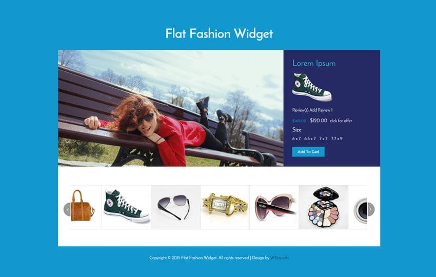 Flat Fashion Responsive Widget Template