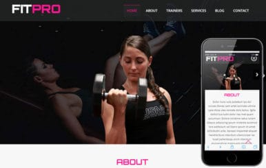 Fit Pro a Sports Category Flat Bootstrap Responsive Web Template