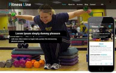 Fitness Line a Sports Category Flat Bootstrap Responsive Web Template