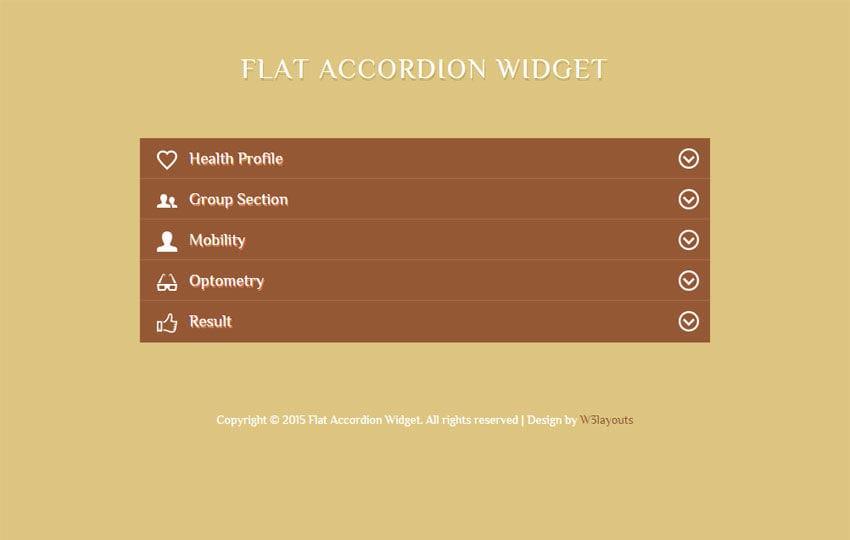 Flat Accordion Responsive Widget Template