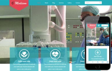 Medicom a Medical Category Flat Bootstrap Responsive Web Template