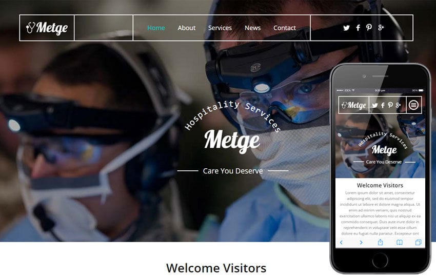 Metge a Medical Category Flat Bootstrap Responsive Web Template Mobile website template Free