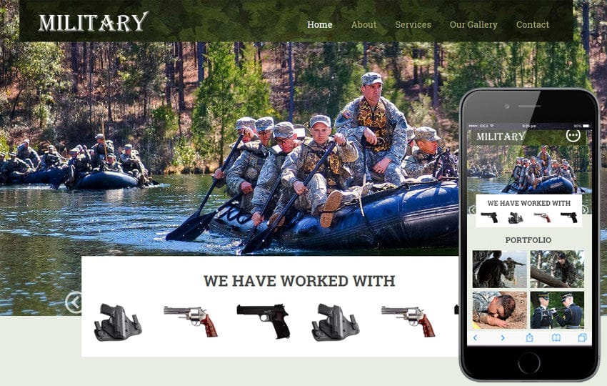 Military a Educational Category Flat Responsive web template
