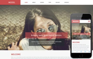 Model a Fashion Category Flat Bootstrap Responsive Web Template