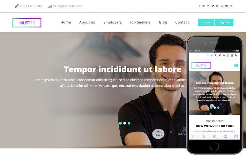 Muster a Corporate Business Flat Bootstrap Responsive Web Template