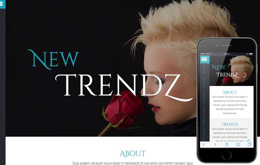 New Trendz a Fashion Category Flat Bootstrap Responsive Web Template Mobile website template Free