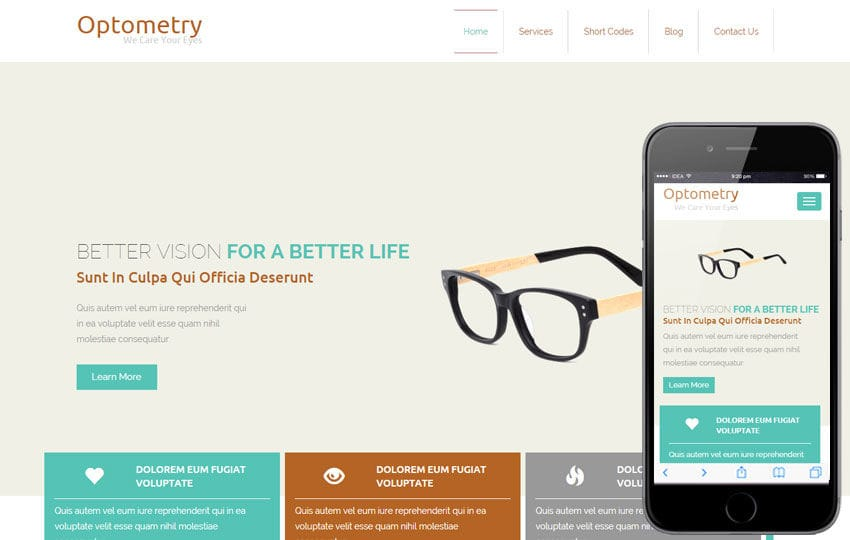 Optometry a Medical Category Flat Bootstrap Responsive Web Template Mobile website template Free