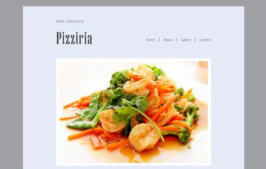 Pizziria a Newsletter Responsive Web Template