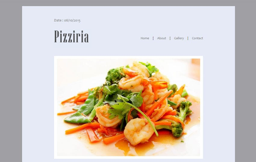 Pizziria a Newsletter Responsive Web Template Mobile website template Free