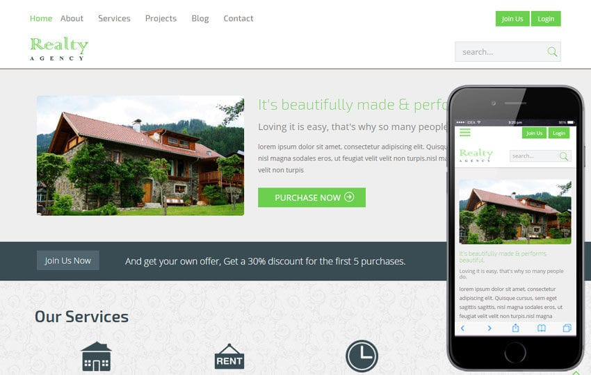 Realty a Real Estate Category Flat Bootstrap Responsive Web Template