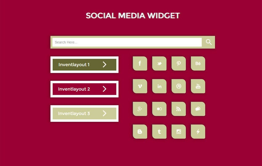 Social Media Responsive Widget Template