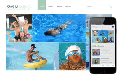 Swimming a Sports Category Flat Bootstrap Responsive Web Template