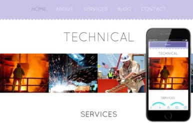Technical a Industrial Category Flat Bootstrap Responsive Web Template