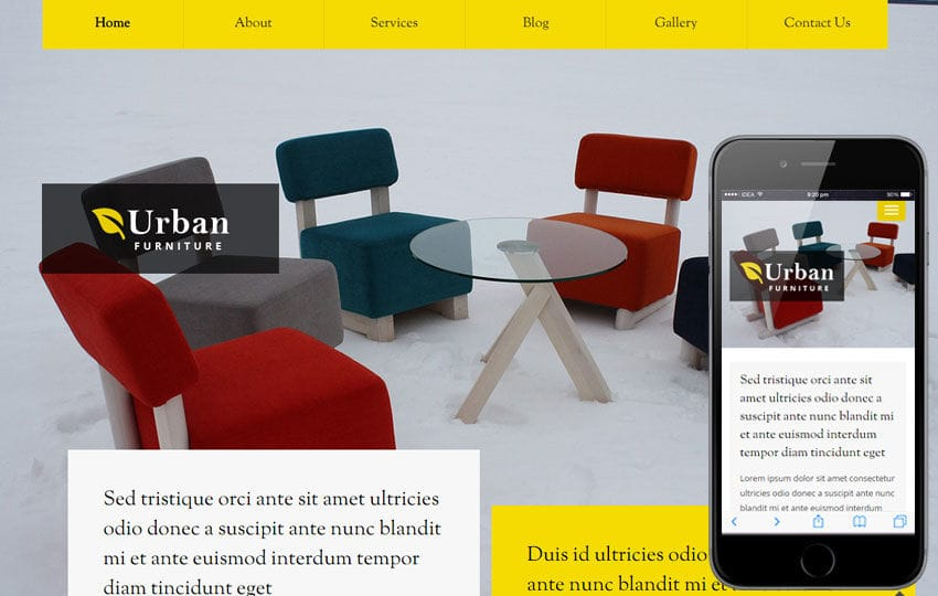 Urban Furniture a Interior Architects Multipurpose Flat Bootstrap Responsive Web Template Mobile website template Free