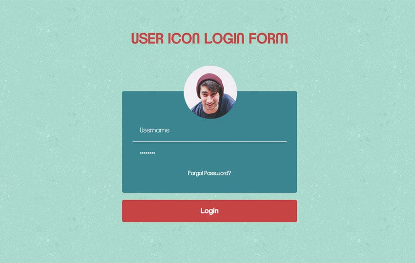User Icon Login Form Responsive Widget Template