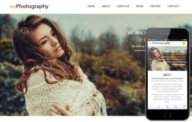 We Photography a Photographer Portfolio Flat Bootstrap Responsive Web Template