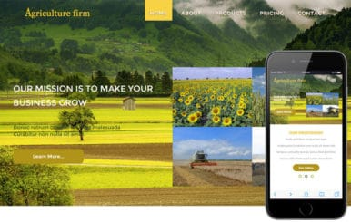 Agriculture Firm a Agriculture Category Flat Bootstrap Responsive Web Template