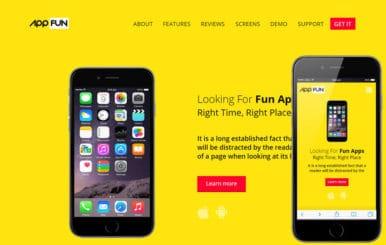 App Fun a Mobile App Landing Flat Bootstrap Responsive Web Template