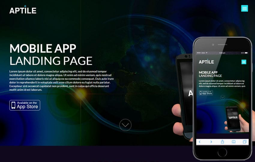 Aptile a Mobile App Landing Flat Bootstrap Responsive Web Template