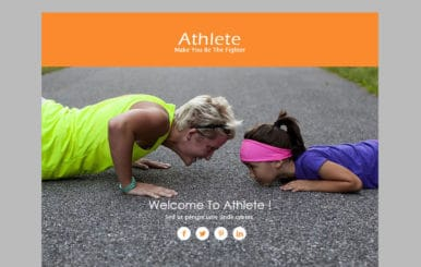 Athlete a Newsletter Responsive Web Template