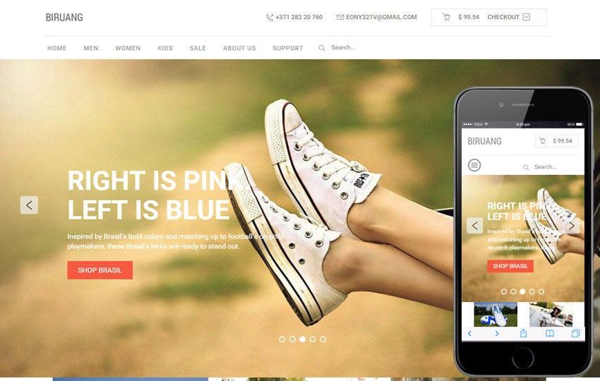 Biruang a Flat eCommerce Responsive Web Template