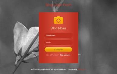 Flat Blog Login Form Widget Template