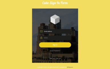 Cube Signin Form Flat Responsive Widget Template