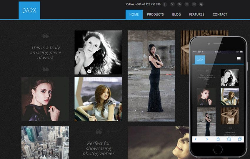 Darx a Fashion Category Flat Bootstrap Responsive Web Template Mobile website template Free