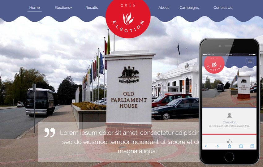 Election a People and Society Category Flat Bootstrap Responsive Web Template Mobile website template Free