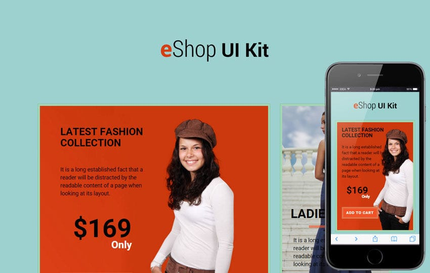 EShop UI Kit a Flat Bootstrap Responsive Web Template Mobile website template Free