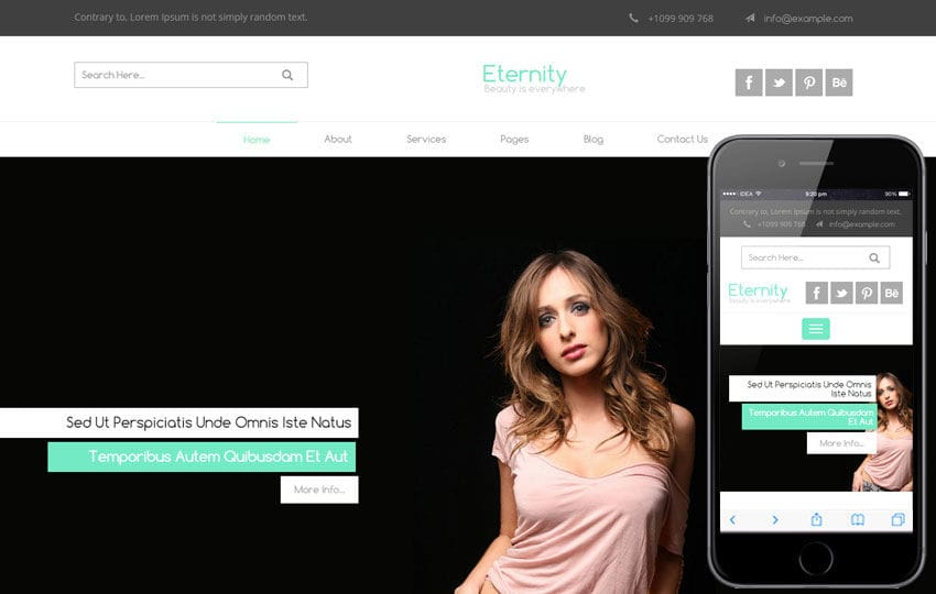 Eternity a Fashion Category Flat Bootstrap Responsive Web Template Mobile website template Free