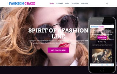 Fashion Craze a Fashion Category Flat Bootstrap Responsive Web Template