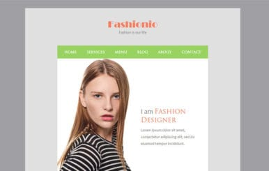 Fashionio a Newsletter Responsive Web Template