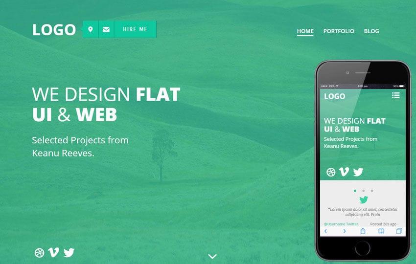 Flatter a Personal Portfolios Flat Bootstrap Responsive Web Template