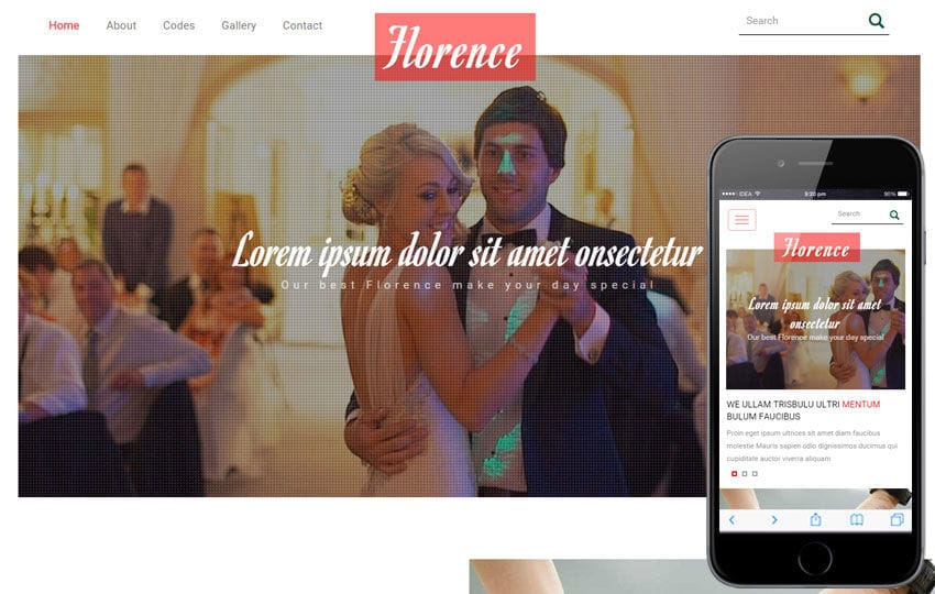 Florence a Wedding Planner Flat Bootstrap Responsive Web Template Mobile website template Free