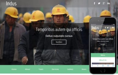 Indus a Industrial Category Flat Bootstrap Responsive Web Template